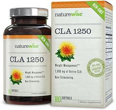 NatureWise CLA 1250, Highest Potency Non-GMO Exercise Enh...