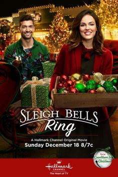 """Its a Wonderful Movie - Your Guide to Family Movies on TV: 'Sleigh Bells Ring' - a Hallmark Channel Original """"Countdown to Christmas"""" Movie starring Erin Cahill, David Alpay, & Donovan Scott returns as Santa! Hallmark Channel, Películas Hallmark, Films Hallmark, Hallmark Holiday Movies, Family Christmas Movies, Christmas Movie Night, Hallmark Holidays, Christmas Shows, Family Movies"""