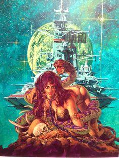 生頼範義 Ohrai Noriyoshi, possible SF Adventure cover.