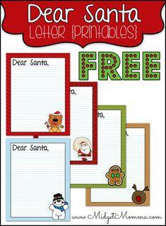 Free Printable Dear Santa Letter Write Notes To Santa