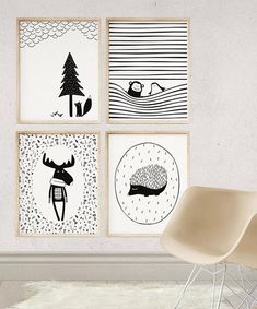 This scandinavian baby nursery decor gives a unique flavor to black and white kids room! This is a digital file, ready for instant download. It can be printed on your own computer, by your local print/photo shop,or have it printed online. Keep in mind - a quality matte paper will often