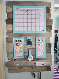 Haute Home Hubs: Ideas for Creating a Family Command Center Love the backing. I'll add hanging folders, etc as needed.