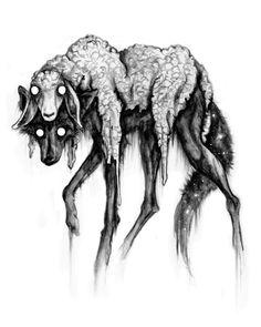 super Ideas for drawing ideas creepy paintings Creepy Drawings, Dark Art Drawings, Creepy Sketches, Wolf Drawings, Dark Art Illustrations, Arte Horror, Horror Art, Dark Fantasy Art, Art Sinistre