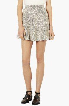 Topshop Jacquard Skater Skirt on shopstyle.com