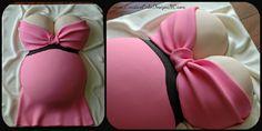 Shower de bébé: 30 idées de gâteaux en forme de bédaine de femme enceinte!