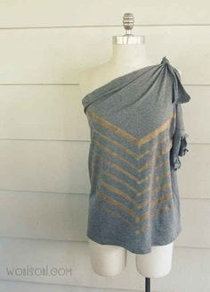 Altered Chevron T-shirt | 27 Awesomely Cheap Ways To Transform A T-Shirt
