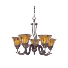 Filament Design Abney 3-Light Bronze Chandelier with Chocolate Icing Glass-CLI-TL5010582 - The Home Depot
