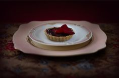 """Blood Panacotta Tart"" - lightjet photograph by Jonathan Cameron Dark Images, Still Life Photography, High Tea, Tart, Sweet Treats, Blood, Collage, Dining, Desserts"