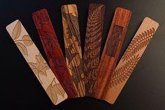 Engraved Wooden Bookmarks - Leaf Designs