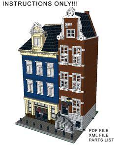 Lego Custom Modular Building Canal Street Houses INSTRUCTIONS ONLY!! 10182 10185 #LEGO