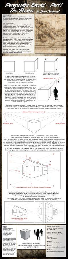 Perspective Tutorial - Part 1 by Packwood.deviantart.com on @deviantART #drawing