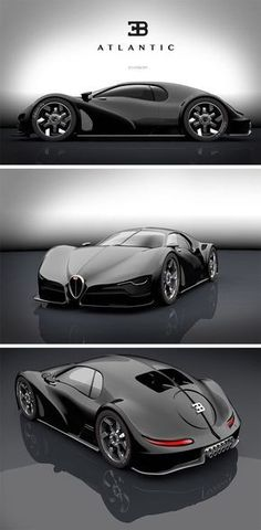 Best Sports Cars   :   Illustration   Description   This modern take on the Atlantic, is a stunning hybrid of old and new with a modern Bugatti front half and classic rear. Bizarre and elusive, the late 1930s Bugatti Type 57SC Atlantic is largely considered to be one of the most beautiful...