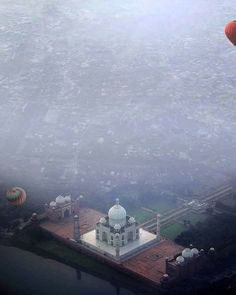 Aerial view of Taj. #WahTaj #unique
