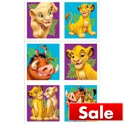 lion king stickers $1.89 for 4 sheets