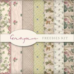 Scrap. DOT: Freebies Grapes Backgrounds