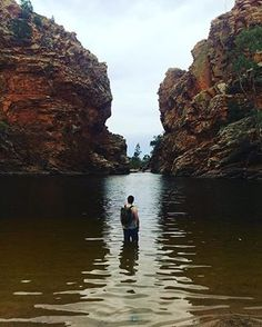 That moment when you are that excited that you can't wait to take your clothes off, hey  @siroccoverland ! Greetings from Ellery Creek Big Hole; one of the most popular and picturesque camping, walking, swimming and picnic spots in the West MacDonnell Ranges. Perfect for a day trip from #AliceSprings . Cheers for tagging  #NTaustralia , Gareth.   #RedCentreNT   #SeeAustralia