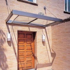 Cheap Pergola For Sale Key: 4004408763 Front Door Awning, Front Door Canopy, Porch Canopy, Awning Canopy, Window Awnings, Canopy Outdoor, Roof Design, Facade Design, Canopy Glass