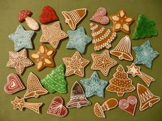 Míves mézeskalács recept Gingerbread Cookies, Christmas Cookies, Food Design, Cookie Decorating, Xmas, Diy, Decorations, Google Search, Frosted Cookies