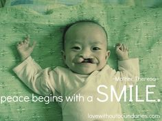 Peace begins with a smile. #quotes