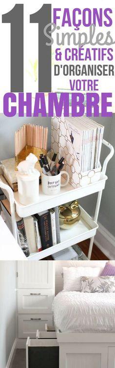 Quand on a une petite chambre, on peut rapidement être encombré par toutes nos affaires. Ce n'est pas facile de tout ranger, puisqu'il n'y a pas de place ! Heureusement, en cherchant bien, on peut trouver de nombreuses façons de tirer parti de l'espace de sa chambre. Ci-dessous, vous trouverez une liste de 11 manières simples pour organiser votre chambre. Ces astuces vous aideront à garder chaque centimètre de votre chambre organisée.