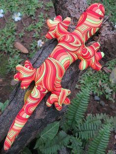 Genki Gecko : Fire Splash  Space Tribe Gecko !  Approximately 45 cm long.  UV Active !