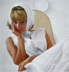 Good Housekeeping April 1965 - the makeup, the hair, the outfit - so pretty