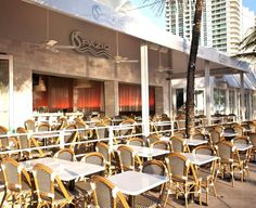 Outdoor Patio Fine Dining Hospitality Design Of Spazio Restaurant Fort Lauderdale