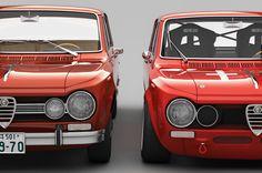 Alfa Romeo Giulia 1600 Super and Giulia TI Super Quadrifoglio Alleggerita. #Black&Red