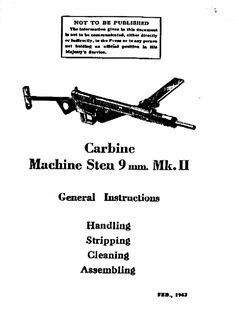 Manual for the Sten submachine gun, first made during WWII. Submachine Gun, Document Sharing, Revenge, Wwii, Weapons, Manual, Guns, Knowledge, Social Media