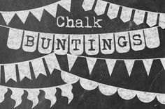 Chalk Buntings by Studio Denmark on Creative Market