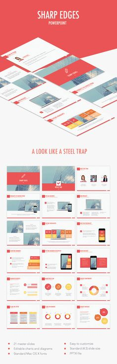 Sharp Edges PowerPoint Template (PowerPoint Templates)