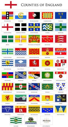 flags of the counties of England