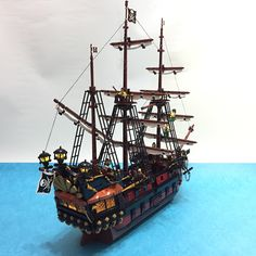 69 Lego Old Ships Ideas – How to build it Bateau Pirate Lego, Bateau Lego, Lego Pirate Ship, Lego Ship, Pirate Ships, Homemade Pirate Costumes, Lego Boat, Pirate Crafts, Amazing Lego Creations