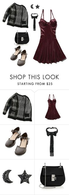 """School Dance"" by rebellious-ingenue ❤ liked on Polyvore featuring Abercrombie & Fitch, Coppola e Toppo and Chloé"