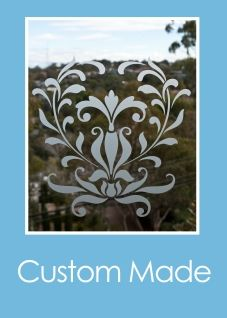 Custom cut frosted glass from Frost & Co