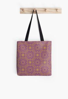 Geometric Dreams in purple and yellow, a geometric pattern design inspired by the African Shweshwe fabric designs Geometric Pattern Design, Tote Bags, Fabric Design, African, Phone Cases, Dreams, Inspired, Yellow, Purple