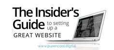 The Insider's Guide to Setting Up a great Website Web Design, Knowledge, Writing, Website, Digital, Blog, Instagram, Design Web, Blogging