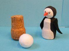 Tučňák malý-tělíčko z korku