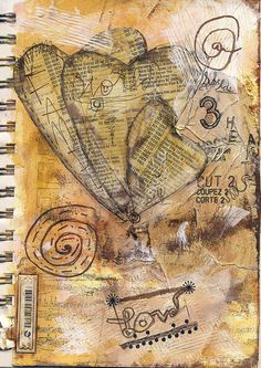 Love the texture in this! -use with the tea bag stamped idea.... possibilities