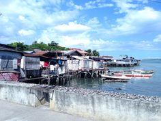Bridge connecting Panglau Island to Tagbilaran. Bohol, Philippines