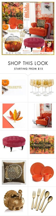 """""""Thanksgiving Decor"""" by yours-styling-best-friend ❤ liked on Polyvore featuring interior, interiors, interior design, home, home decor, interior decorating, Haute House, Pier 1 Imports, Jay Import and ThanksgivingDecor"""