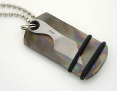 Titanium Dog Tag Knife - Click this image for a larger view.