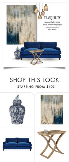 """""""A Tranquil Space"""" by youaresofashion ❤ liked on Polyvore featuring interior, interiors, interior design, home, home decor, interior decorating, Ethan Allen, Leftbank Art, OKA and Warehouse of Tiffany"""
