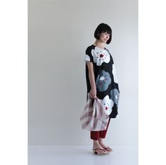 """One piece dress made of premium """"chizimi"""" japanese crepe cotton, one size fits all, hand printed in japan $98.50"""