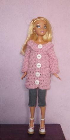 Miss Barbie vous présente aujourd'hui un manteau Je vous propose les explications Fournitures : de la laine fine...