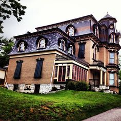 Lounts Castle in Barrie, Ontario Canada.  Restored into apartments.  There used to be a ballroom in there, years ago.  Amazing.