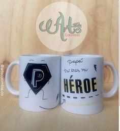 Papa eres mi Heroe. Envíos nacionales personalizados con foto, frase, nombre Photo And Video, Mugs, Videos, Instagram, Frases, Pictures, Tumblers, Mug, Cups