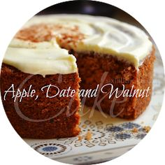 You know those moments when you are desperate to get something together for school lunches at the last minute? You flick through your rec. Apple Cake Recipes, Baking Recipes, Dessert Recipes, Apple Cakes, Apple Walnut Cake Recipe, Baking Hacks, Loaf Recipes, Date And Walnut Loaf, Date Cake