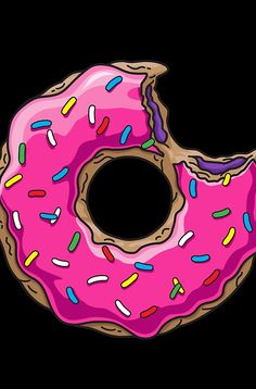 You can't buy happiness, but you can buy DONUTS. Tumblr Stickers, Cute Stickers, Donut Drawing, Simpson Wallpaper Iphone, Healthy Donuts, Homemade Stickers, Ink Addiction, Donut Shop, Cute Cartoon Wallpapers