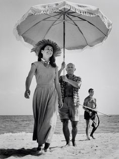 Robert Capa photography; Picasso And Françoise Gilot